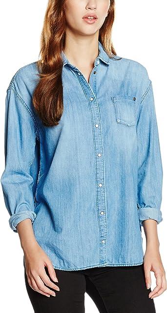 Pepe Jeans Mila, camisa Mujer, Azul (Denim), XXS(UK): Amazon.es: Ropa y accesorios