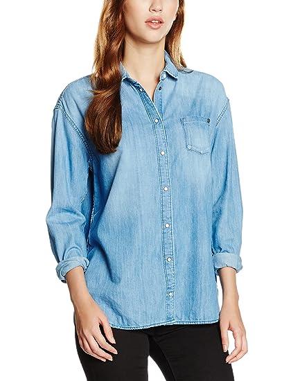 Pepe Jeans Mila, camisa Mujer, Azul (Denim), XXS(UK)