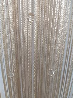 Eve Split Decorative Door String Curtain Wall Panel Fringe Window Room  Divider Blind For Wedding Coffee
