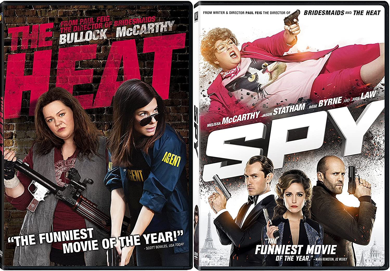 Amazon com: Spy + Heat DVD Set Comedy 2 Movies double