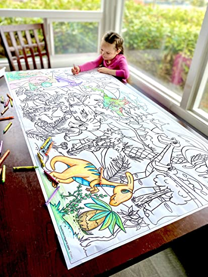 Amazon.com: Giant 5ft Wall Size Coloring Poster 60