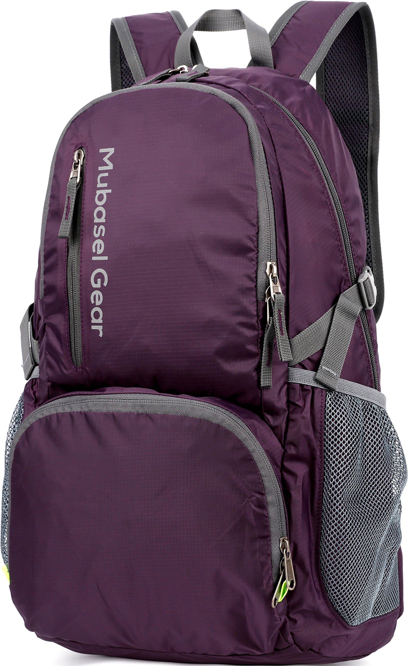 Mubasel Gear Backpack - Lightweight Backpacks for Travel Hiking - Daypack for Women Men (Purple) by Mubasel Gear (Image #7)