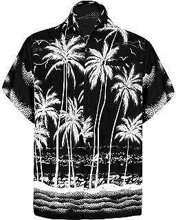 e8a60c7f Men's Regular Fit Camp Palm tree Short Sleeves Button Down Hawaiian Shirts  aloha