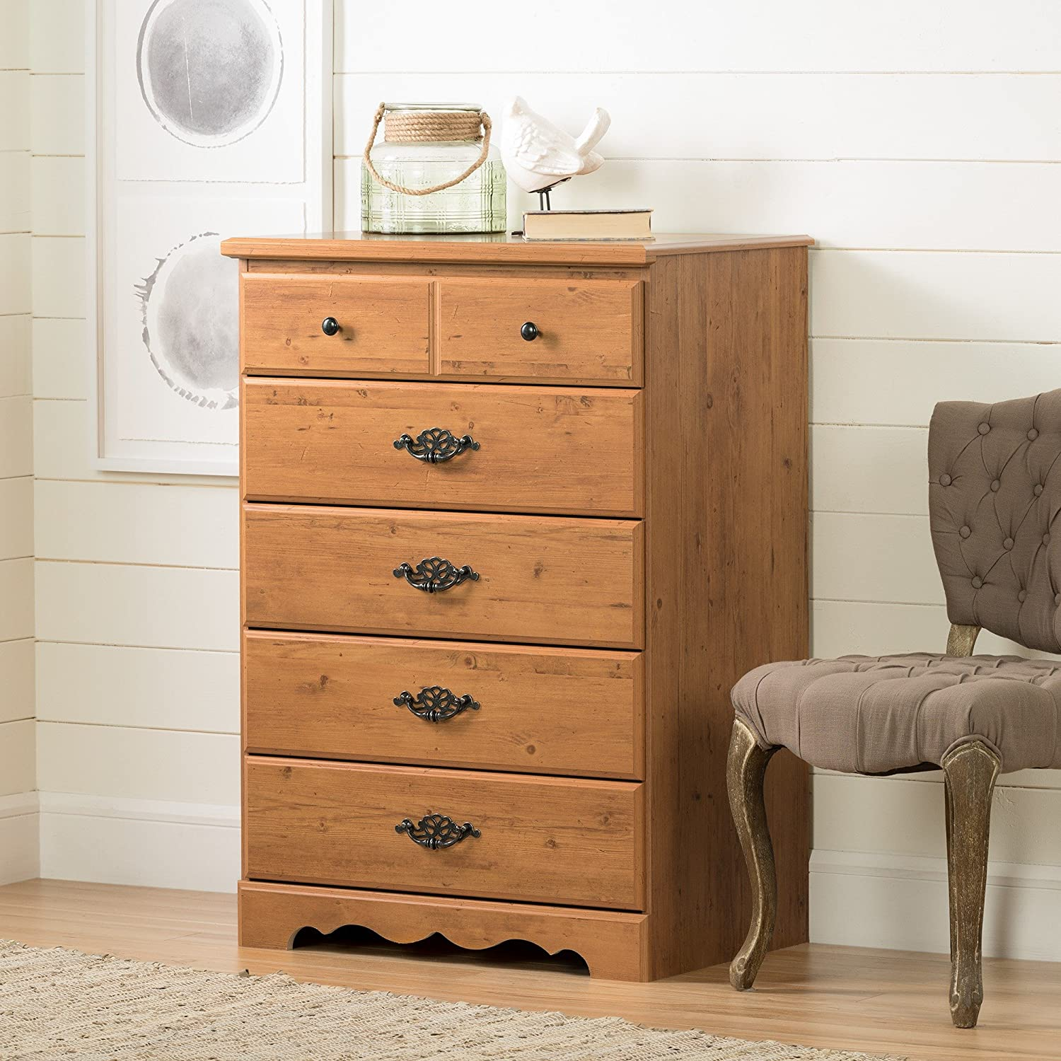 Amazon.com: South Shore Furniture, Prairie Collection, cofre ...