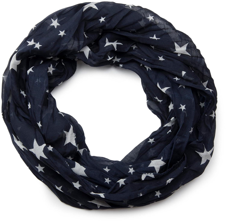 effetto stropicciato unisex 01016093 styleBREAKER sciarpa a tubolare scaldacollo con motivo a stella setosa