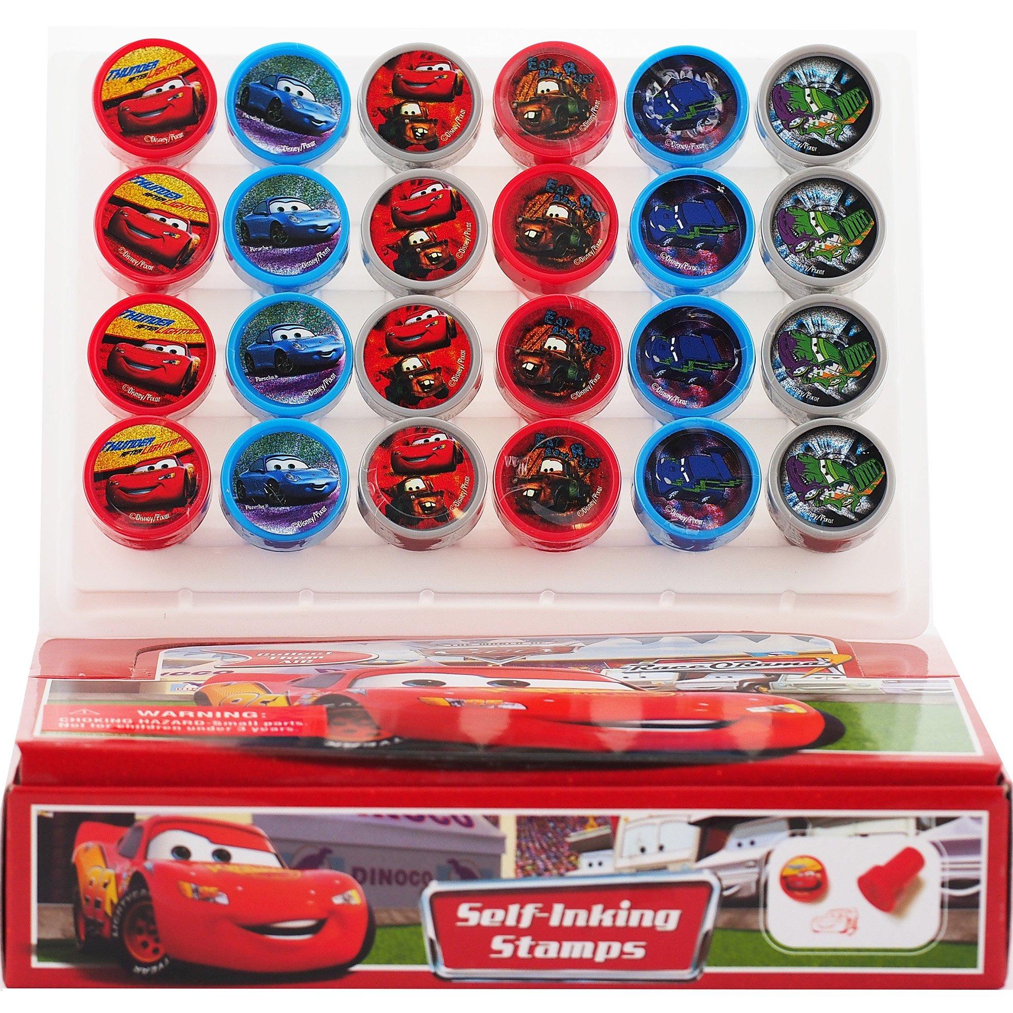 Disney Pixar Movie CARS Stampers Box: Stamp Art Set (24 pcs)