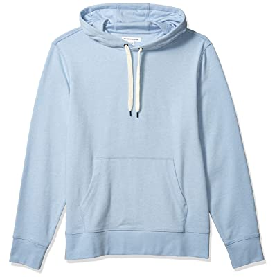 Essentials Men's Lightweight French Terry Hooded Sweatshirt: Clothing