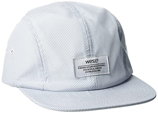 Mens Indy Stripe 4 Panel Baseball Caps, Blue (Ballad Blue), One Size Wesc