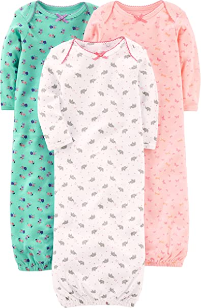 Simple Joys by Carters Baby 3-Pack Cotton Sleeper Gown