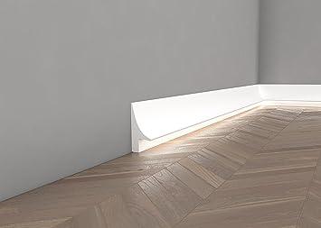 *TOPSELLER* Licht Fußleiste U0026quot;QL007u0026quot;   Sockelleiste Für Indirekte  Beleuchtung (aus