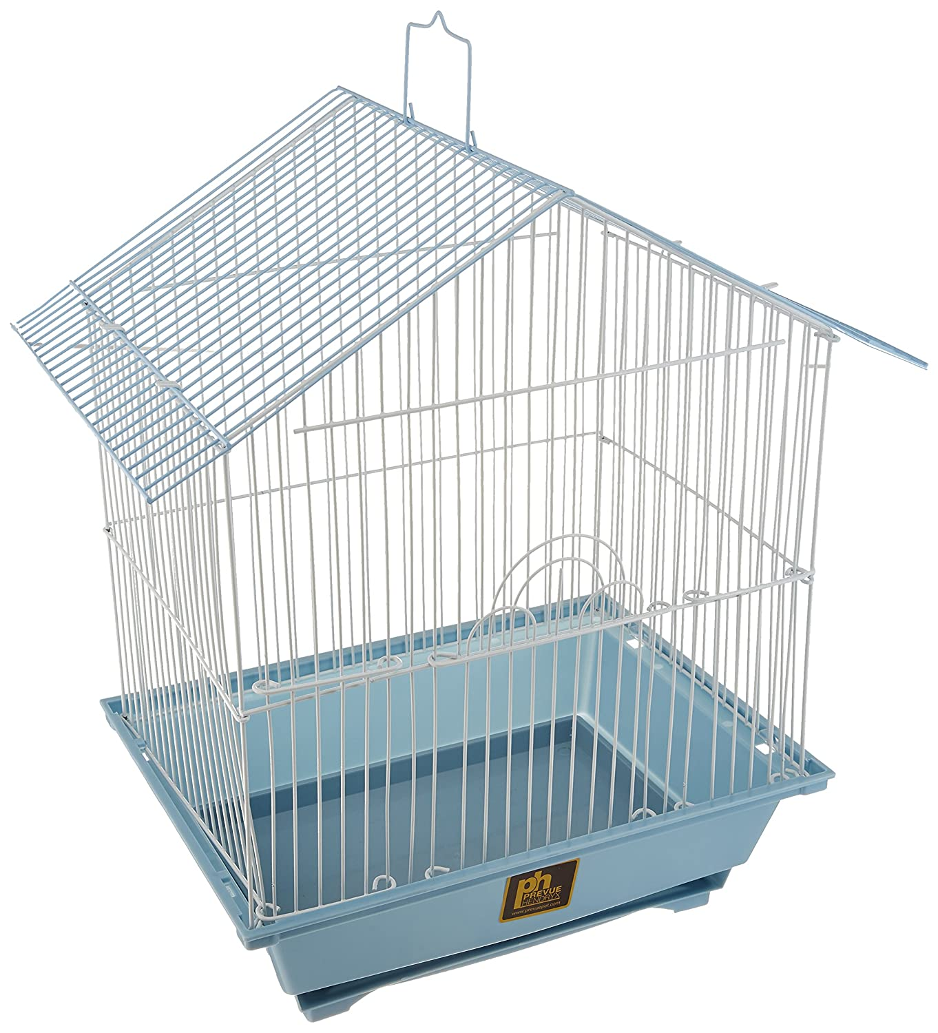 Prevue Hendryx House Style Economical Parakeet House with 2 Perches, 1 Swing and 2 Feeding Cups PP-31600