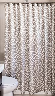 Rizzy Home Andrew Charles Collection Animal Print Patterned Cotton Shower Curtain 72 X
