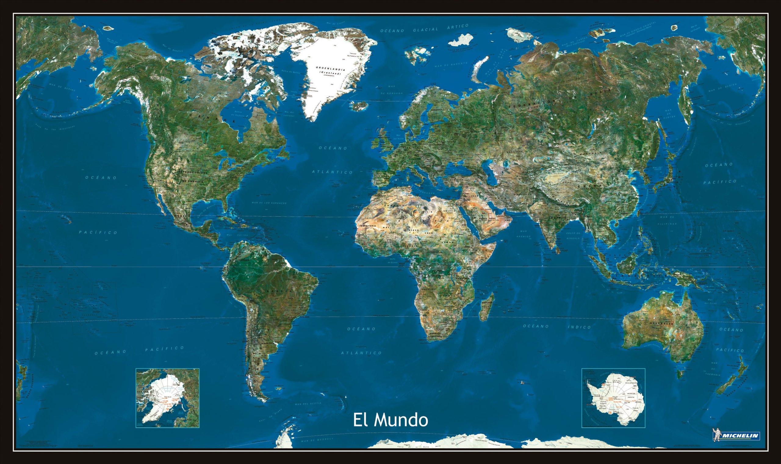 Mapa Plastificado Planisferio Foto Satélite Mapas en tubo y plastificados Michelin: Amazon.es: Vv.Aa.: Libros