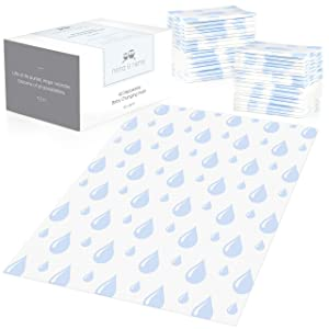 Large Disposable Baby Changing Pads - 40 Count - Diaper Changing Table, Sanitary Mats - 100% Leak-Proof
