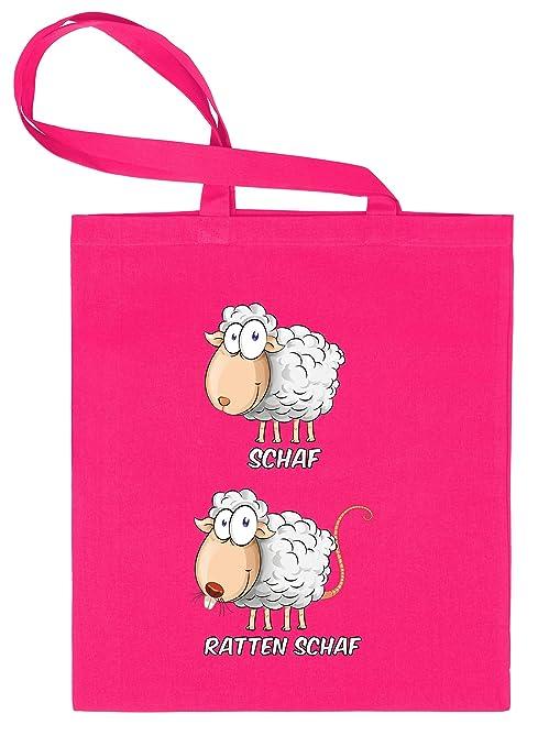 Oveja - Ratas oveja Bolsa de tela estampado por una cara con ...