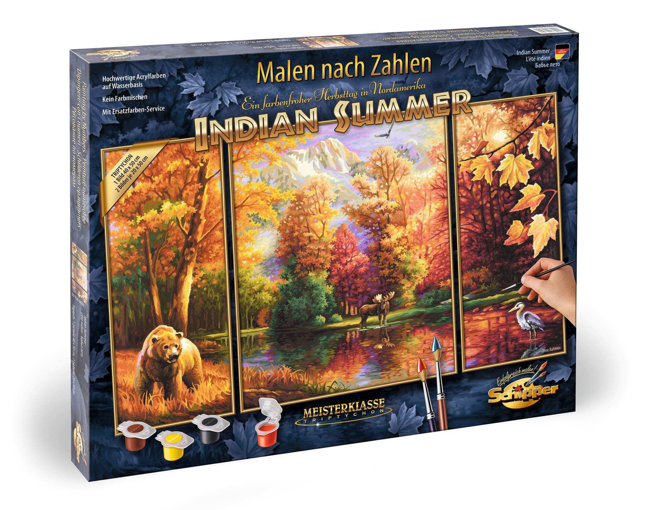 Schipper Adult Paint by Number: Tryptych Indian Summer Model Kit by Schipper