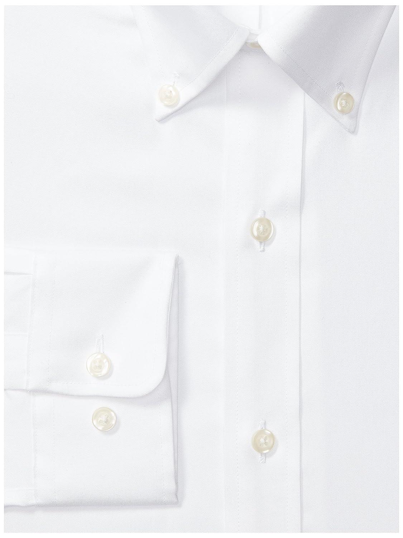 /à col am/éricain Marque Chemise classique et /él/égante sans repassage Coupe classique Pour homme en coton Supima unie