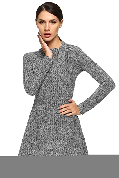 Eshion Sweater Dress Plus Size Women Pullover Sweater Red Sweater