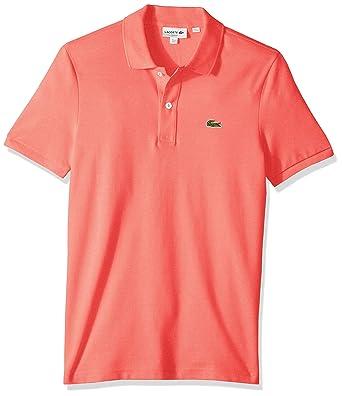 dffbacb40684d2 Lacoste Men's Petit Piqué Slim Fit Polo Shirt, Amaryllis Pink, Small