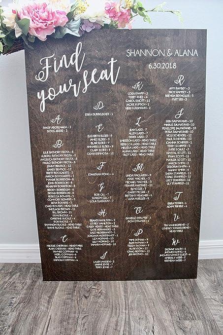Wedding Table Seating Chart.Amazon Com Seating Chart Wedding Alphabetical Seating Chart Wedding