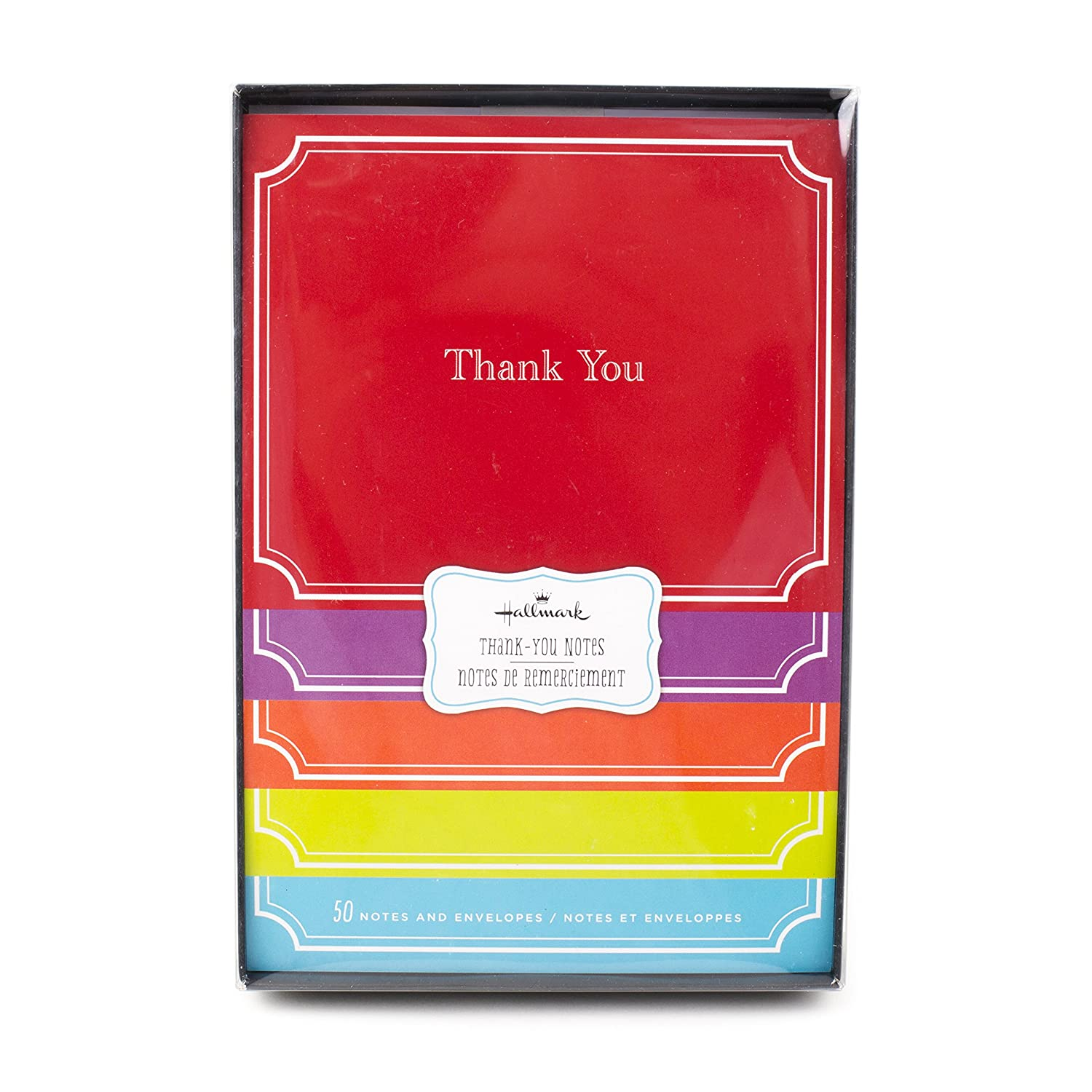 Amazon Com Thank You Notes Solids 50 Notecards And Envelopes