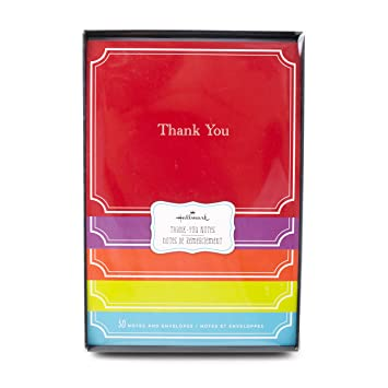 Amazon Com Hallmark Thank You Cards Assorted Solid Colors Pack