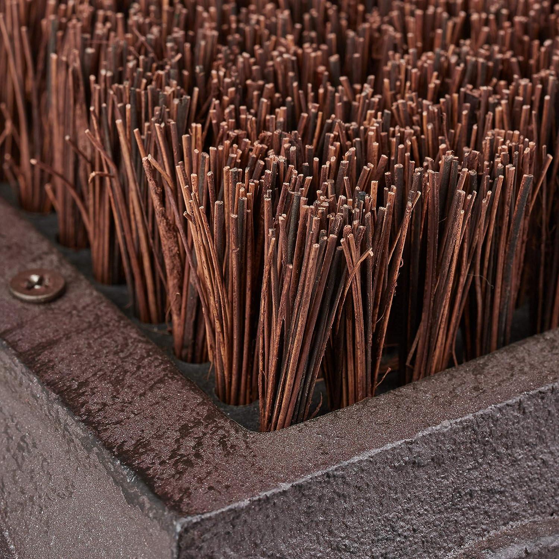 Fibre de Coco Vestibule Antique Design Marron h/érisson Relaxdays 10026400/_996 Brosse /à Chaussures Poils Robustes 17,5 x 24 x 14cm Fonte paillasson