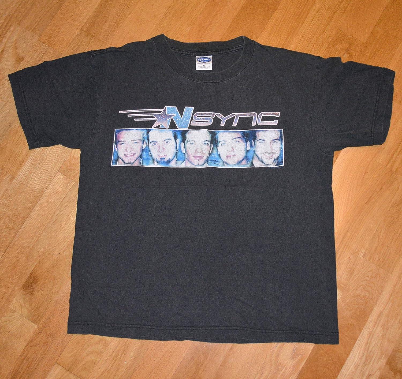 NSYNC American Boy Band POP Justin Timberlake CONCERT TOUR Adult T-Shirt