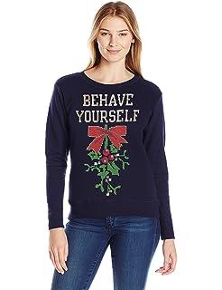 Amazon forum novelties adult all wrapped up ugly christmas hanes womens ugly christmas sweatshirt solutioingenieria Image collections