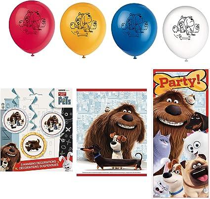 SECRET LIFE OF PETS Birthday party supplies 7 pc decoration kit Swirls Banner