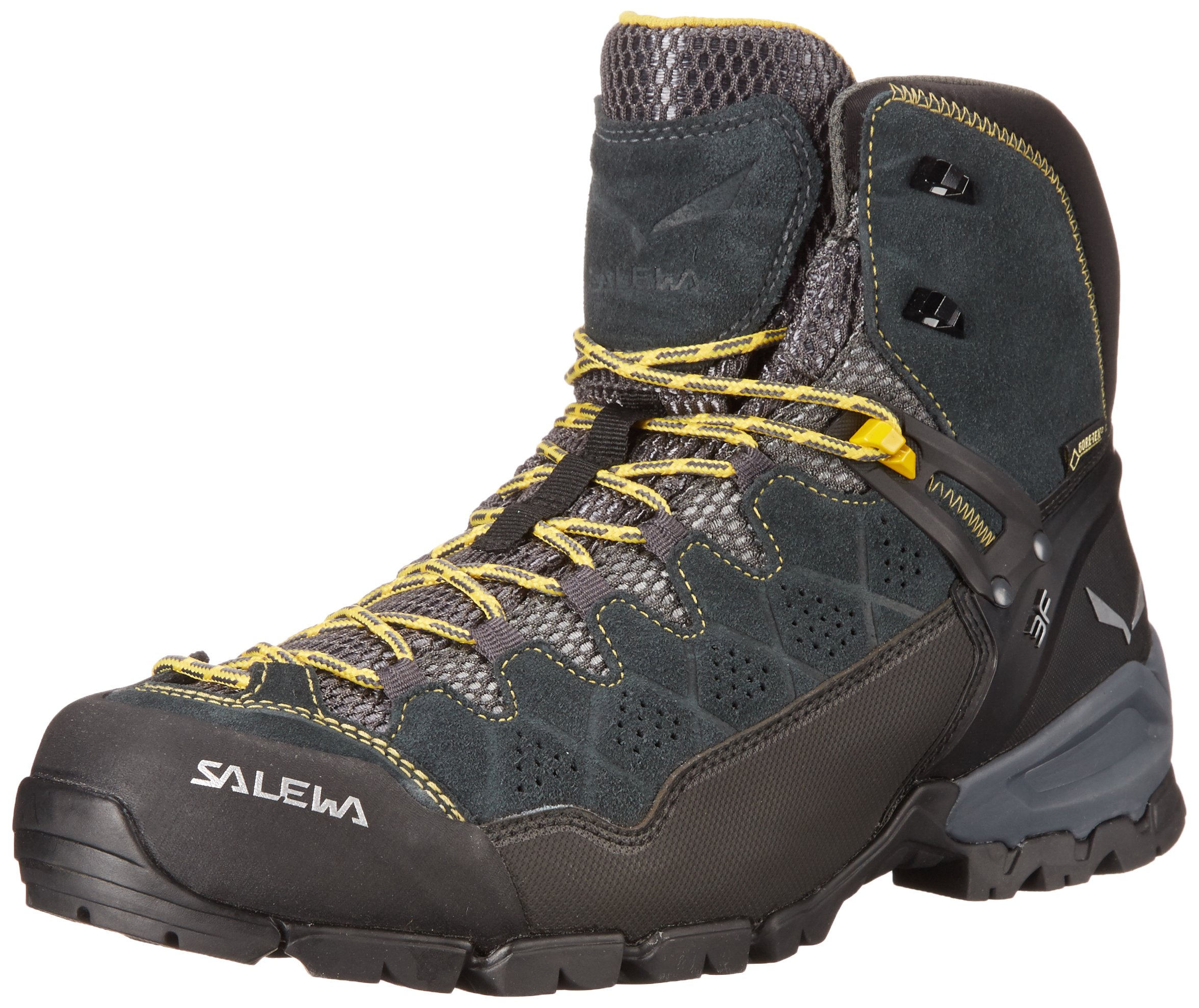 Salewa Men's ALP Trainer Mid GTX Alpine Trekking Boot, Carbon/Ringlo, 10 D US