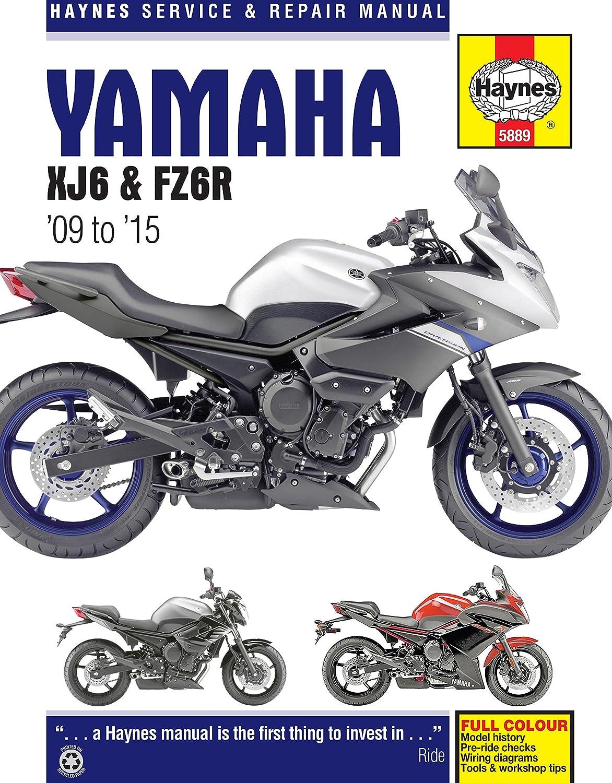 2009-2015 Yamaha FZ6 FZ6R HAYNES REPAIR MANUAL on