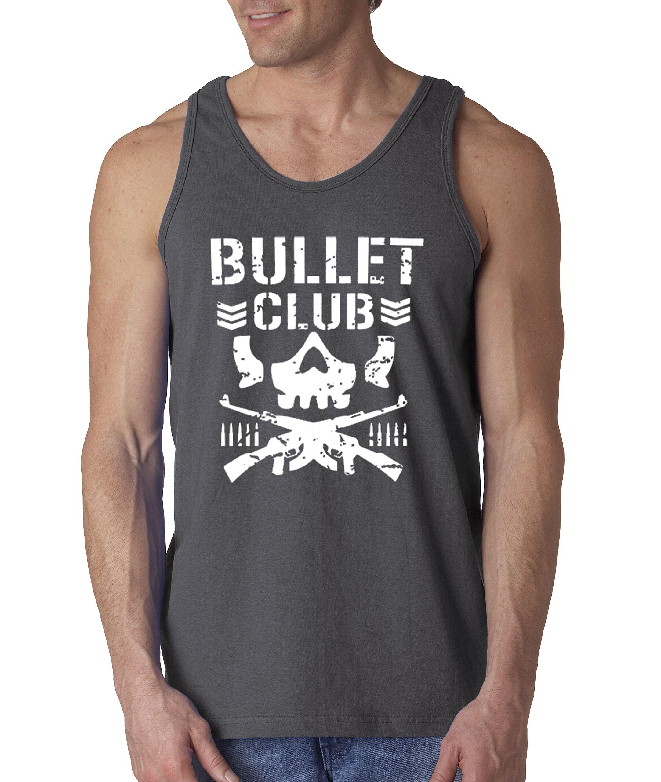 New Way 786 - Men's Tank-Top Bullet Club Skull Bone Soldier Japan Pro Wrestling Medium Charcoal