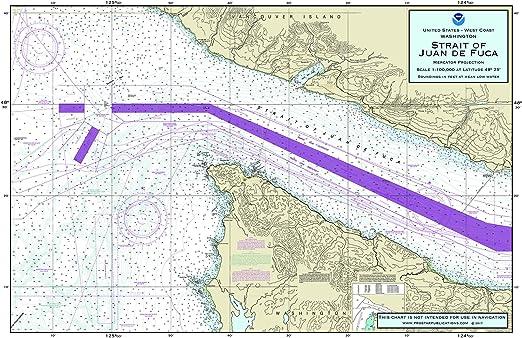 Nautical Placemats Manteles Individuales náuticos Strait of Juan ...