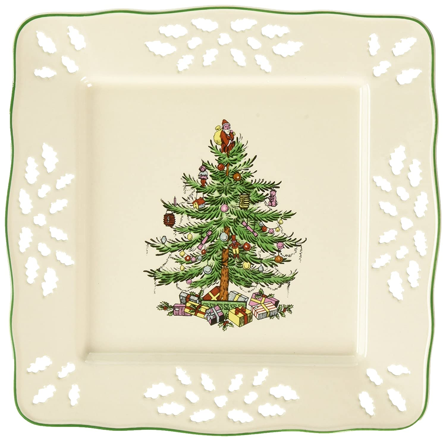 Spode Christmas Tree Pierced Heart Tray, 7-Inch Portmeirion USA 1512696