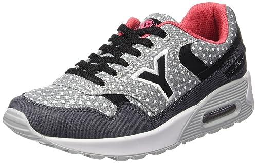 YUMAS Peyton - Zapatos para Mujer, Color Gris, Talla 36: Amazon.es: Zapatos y complementos