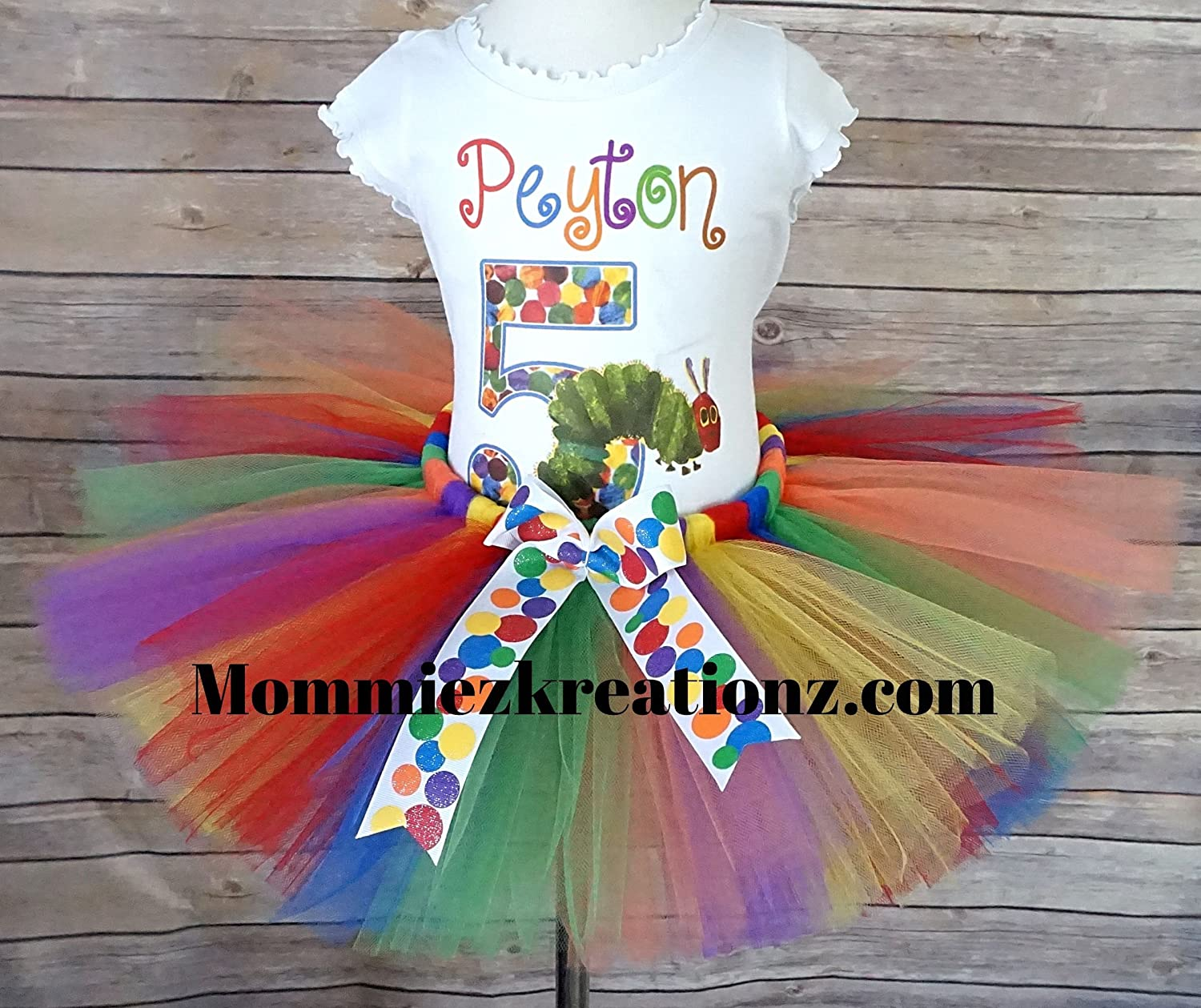 Very Hungry Caterpillar Tutu Set,Caterpillar Outfit,1st Birthday Tutu Outfit