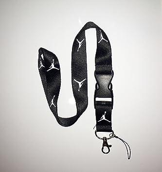 37cfbde77 *ENTREGA GRATUITA* Nuevo Negro Jordan cinta para llaves, ID, portatarjetas,  teléfono