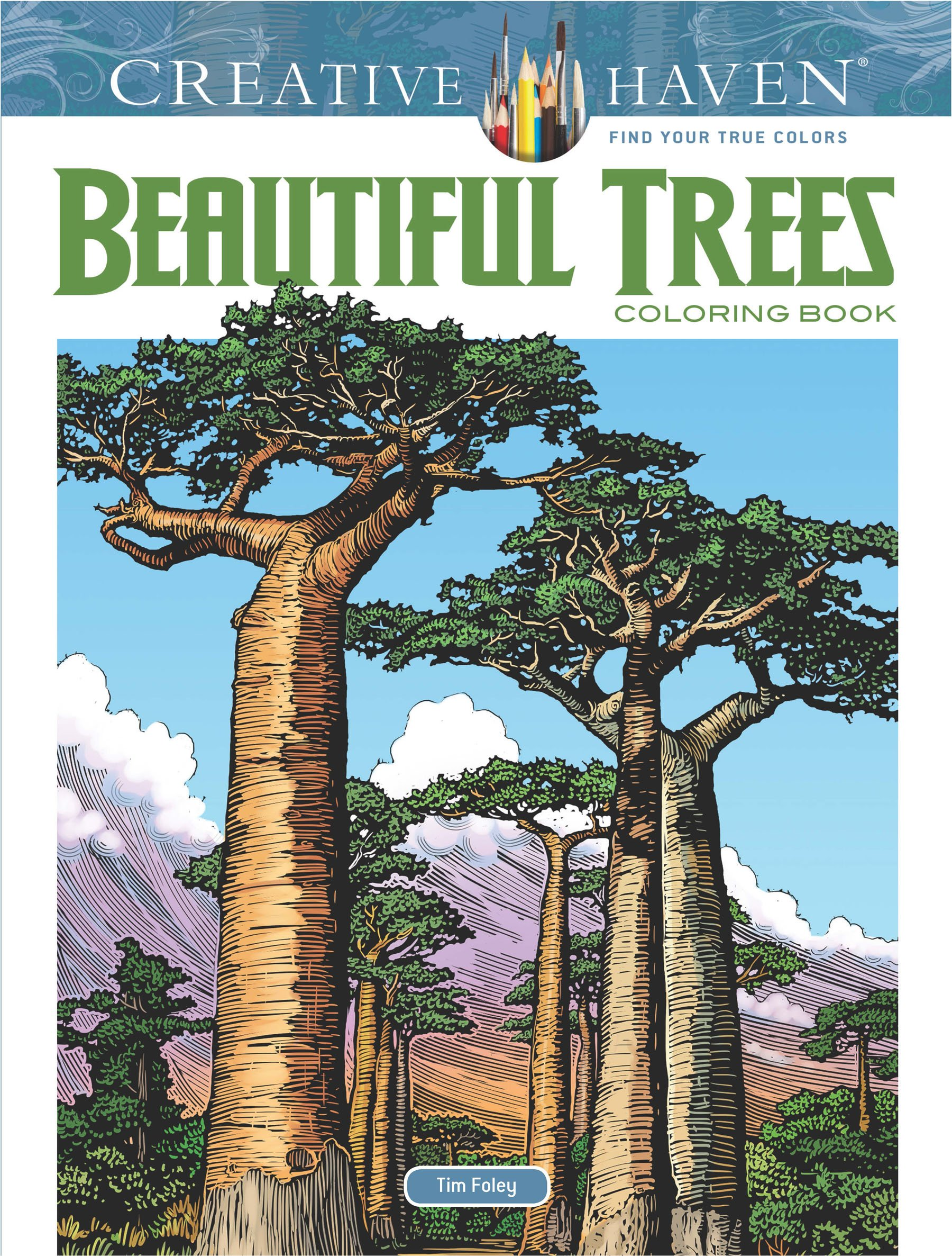 Creative Haven Beautiful Trees Coloring product image