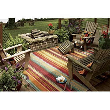 Mohawk Home Avenue Stripes Indoor/ Outdoor Printed Area Rug, 5'x8', Multicolor