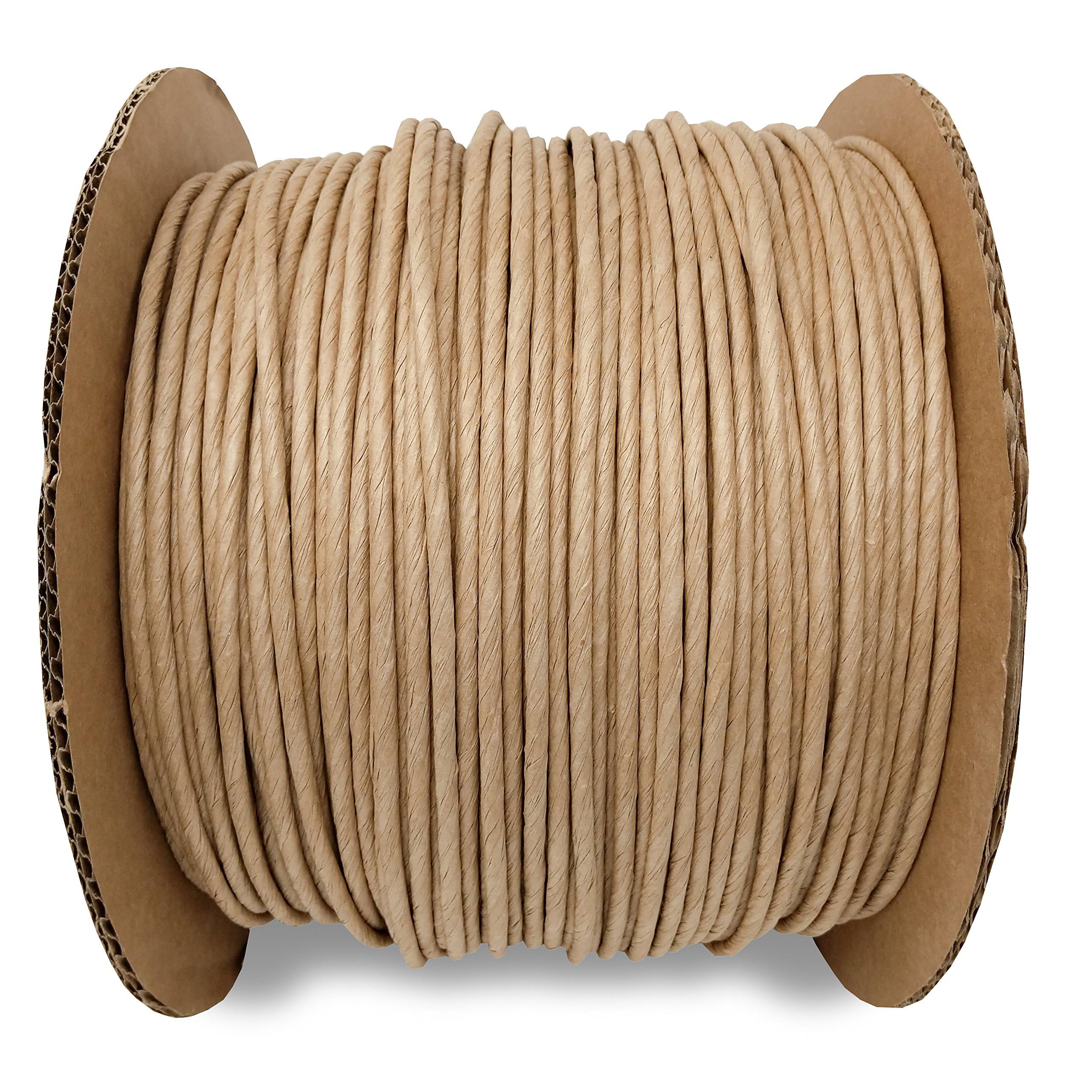 5/32 Fiber Paper Rush Spool Reel, 1,700ft Kraft Brown for Craft Weaving Chairs Ladderbacks