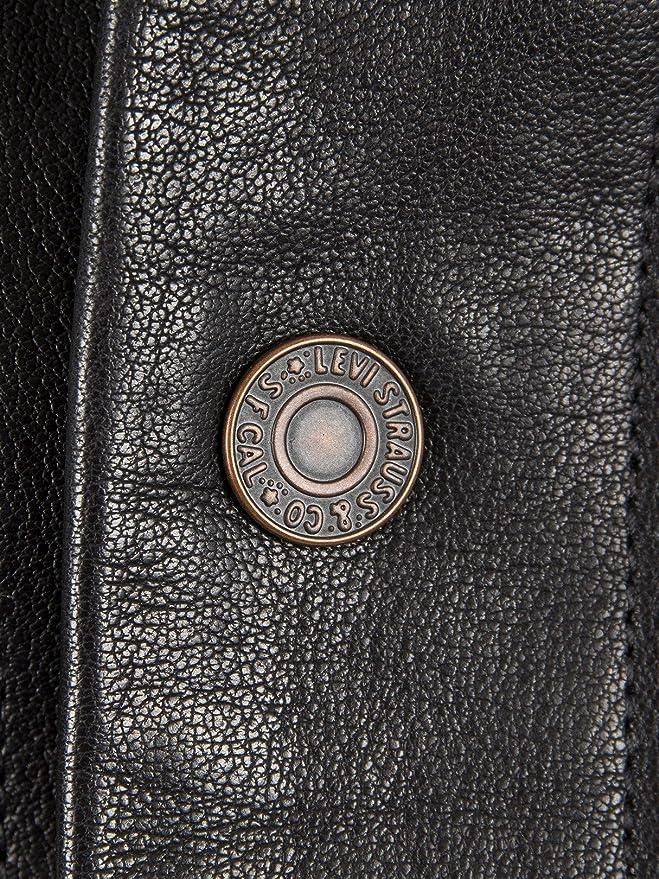 Levi S Jackets Men Black Leather Trucker Jacket For Men S