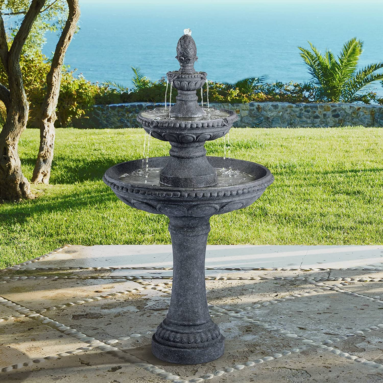John Timberland Pineapple Italian Outdoor Floor Water Fountain 44