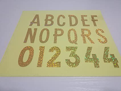 2 inch tall deb hologram vinyl iron on letters numbers26 letters and