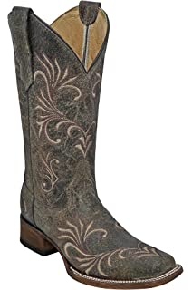 2efb1704970 Amazon.com | CORRAL Women's Silver Sequin Cross Cowgirl Boot Wide ...