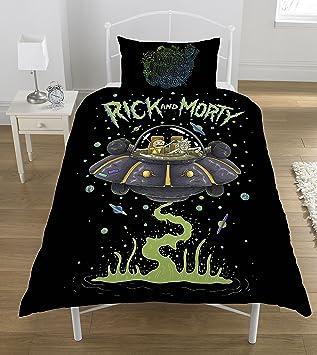 Rick Und Morty Ufo Bettwäsche Set Polyester Mehrfarbig Single