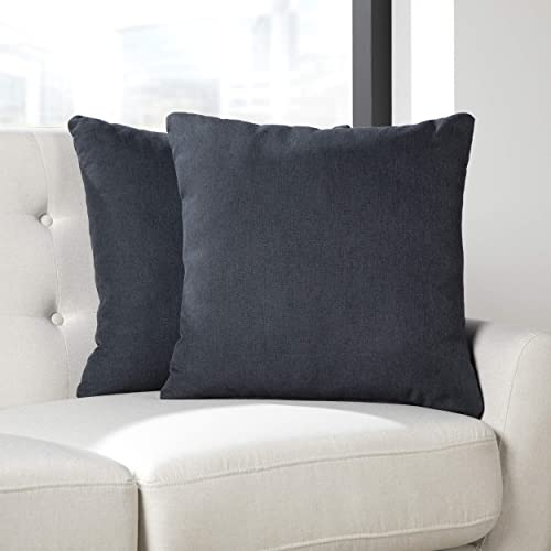 OFM 161 Collection Accent Covers with Pillow Inserts, 18 x 18, Navy 2 Pack