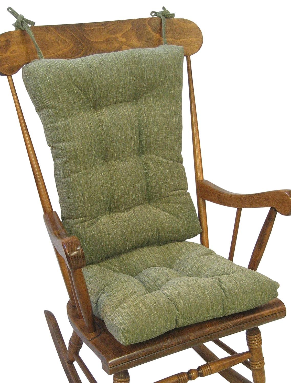 Klear Vu The Gripper Non-Slip Polar Jumbo Rocking Chair Cushions, Chocolate 849177XL-15