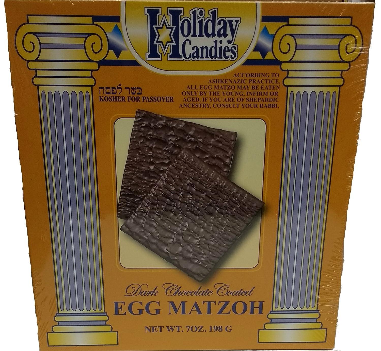Dark Chocolate Covered Egg Matzo for Passover