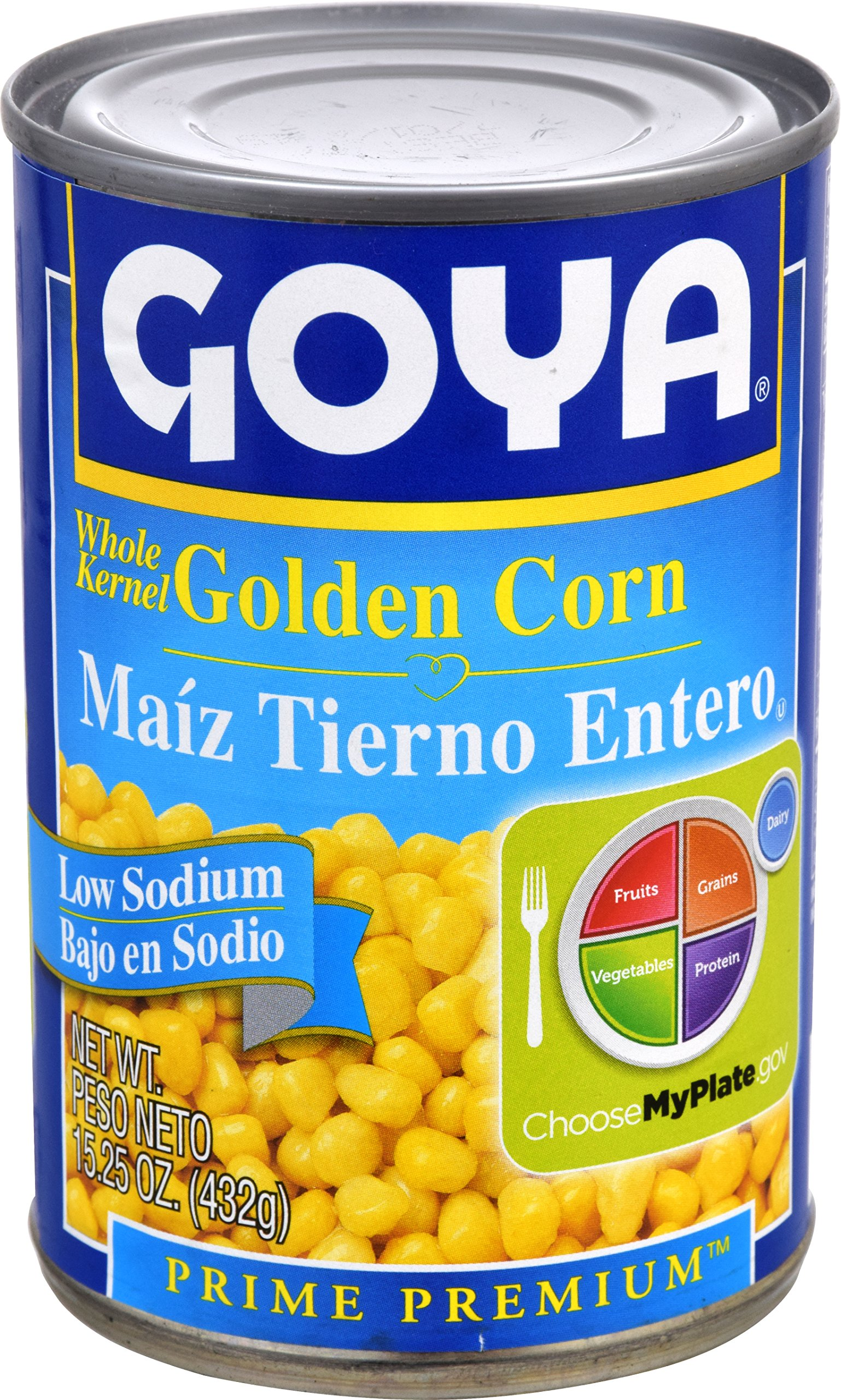 Goya Foods Whole Kernel Corn Low Sodium, 15.25 Ounce (Pack of 24)